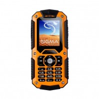 Мобильный телефон Sigma mobile X-treme IT67 Black/Orange, 2 Sim – интернет-магазин Microtron